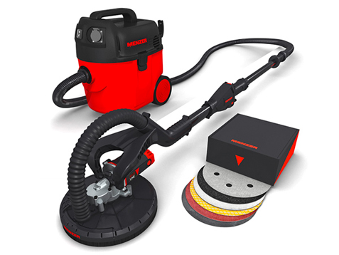 drywall sander menzer lhs 225 vario dust free set incl vacuum cleaner ebay. Black Bedroom Furniture Sets. Home Design Ideas